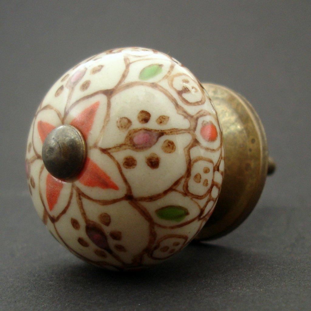 Keramická úchytka-Orient v hnědé