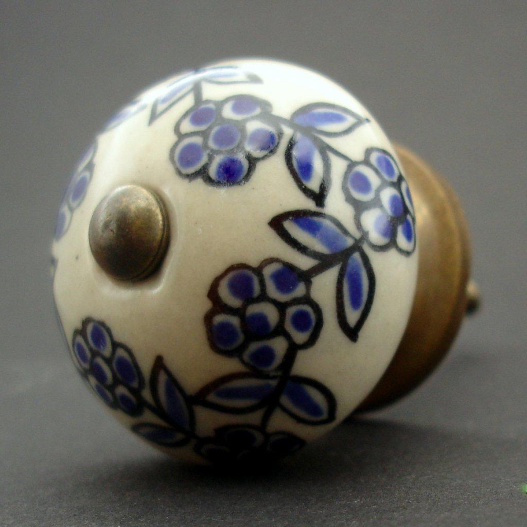 Keramická úchytka-Pomněnky na krému