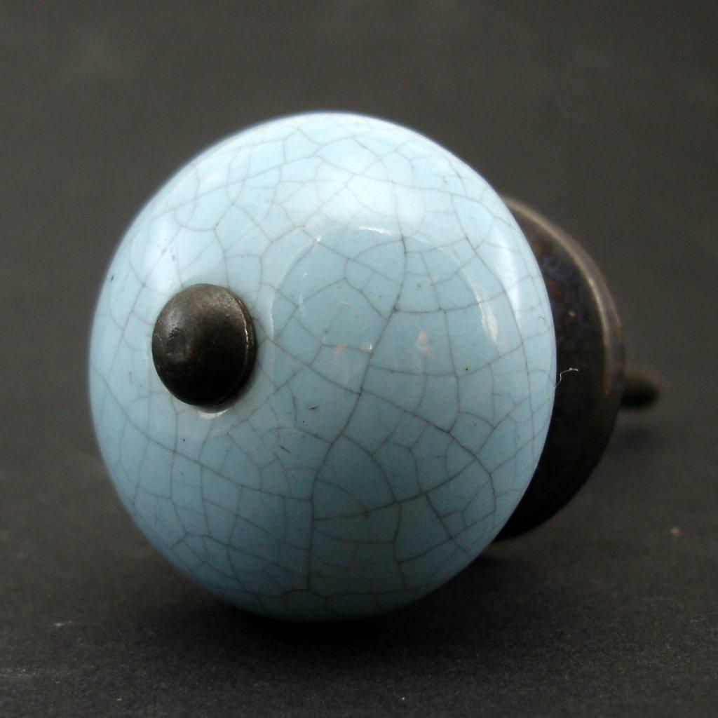 Keramická úchytka -Modrá crackle