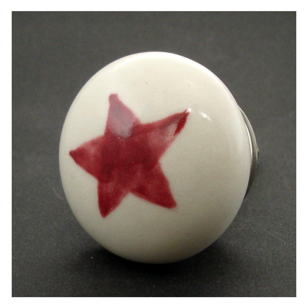 Keramická úchytka-Hvězda