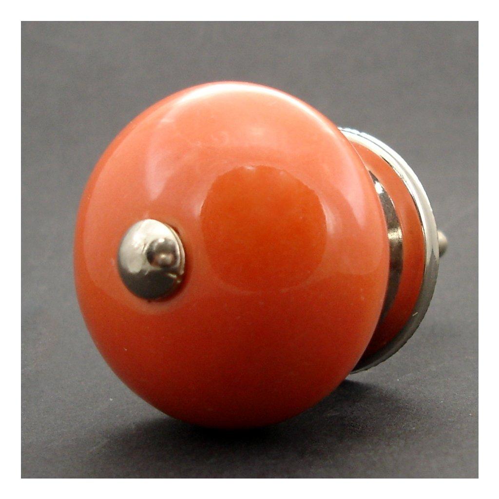 Keramická úchytka-Oranžová