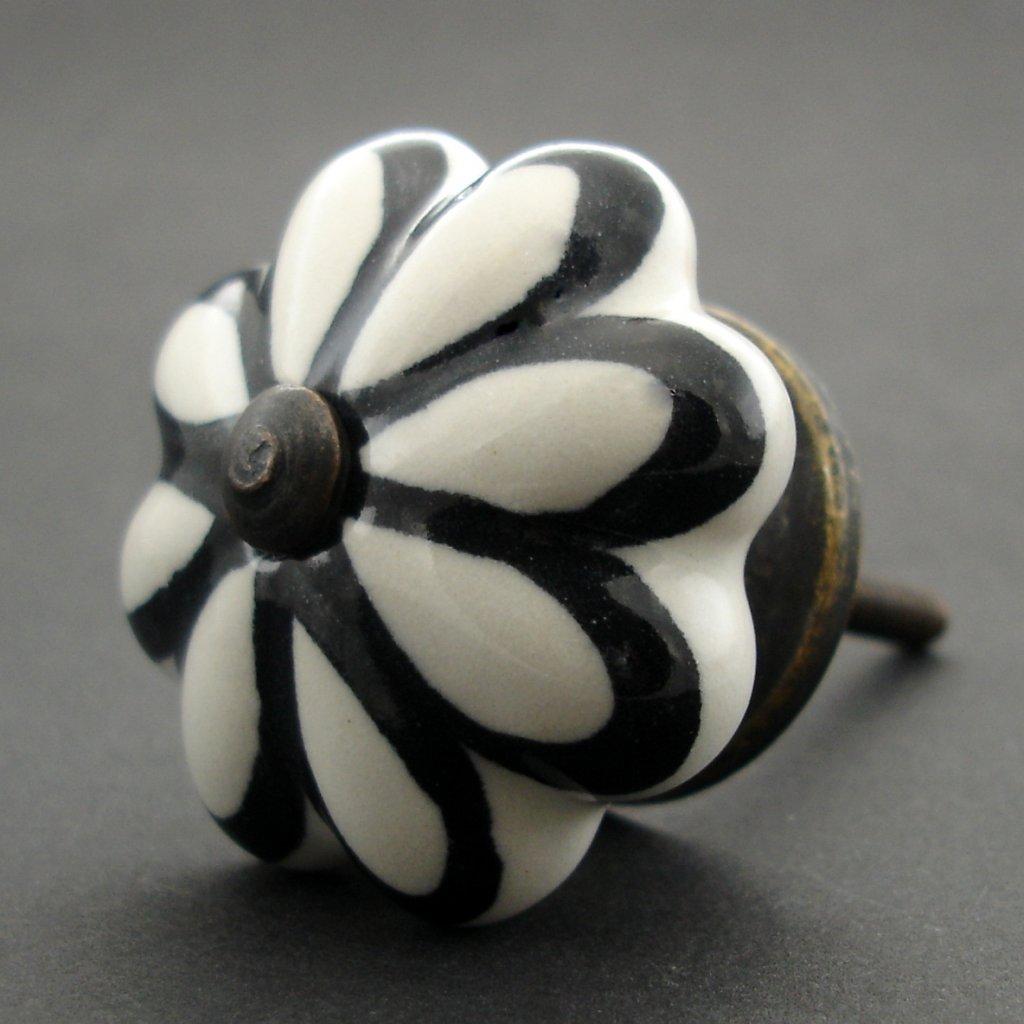 Keramická úchytka-Černý lem
