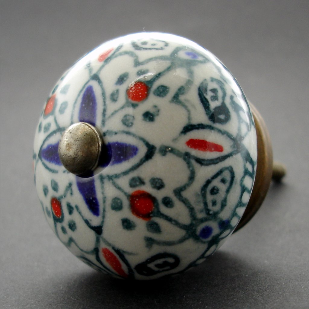 Keramická úchytka-Orient v zelené