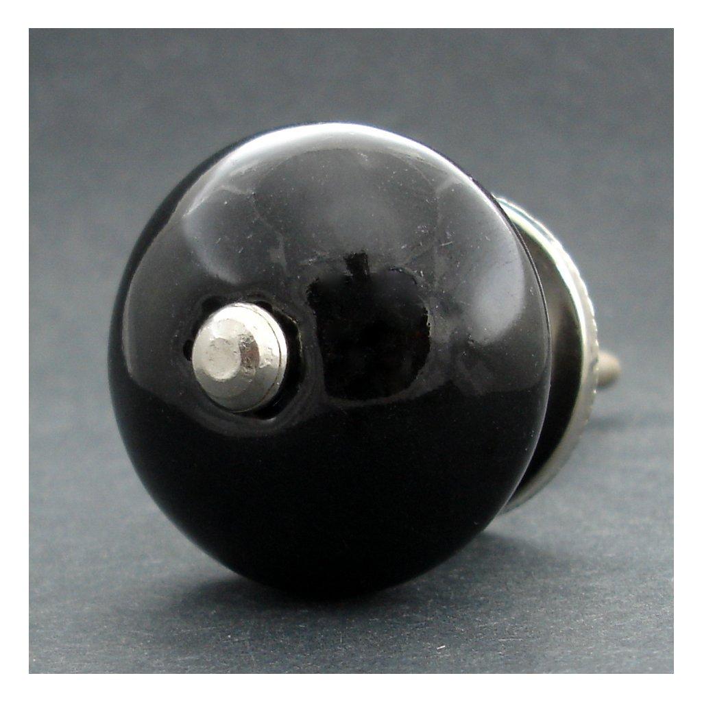 Keramická úchytka-Černá
