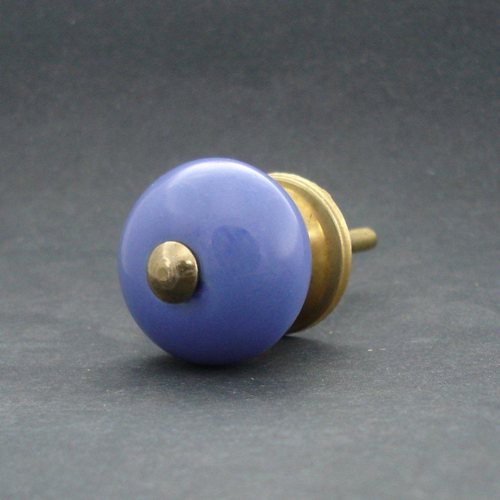Keramická úchytka-Modrá pastel MALÁ