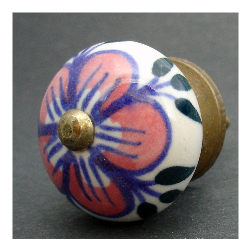 Keramická úchytka-Kakost růžový