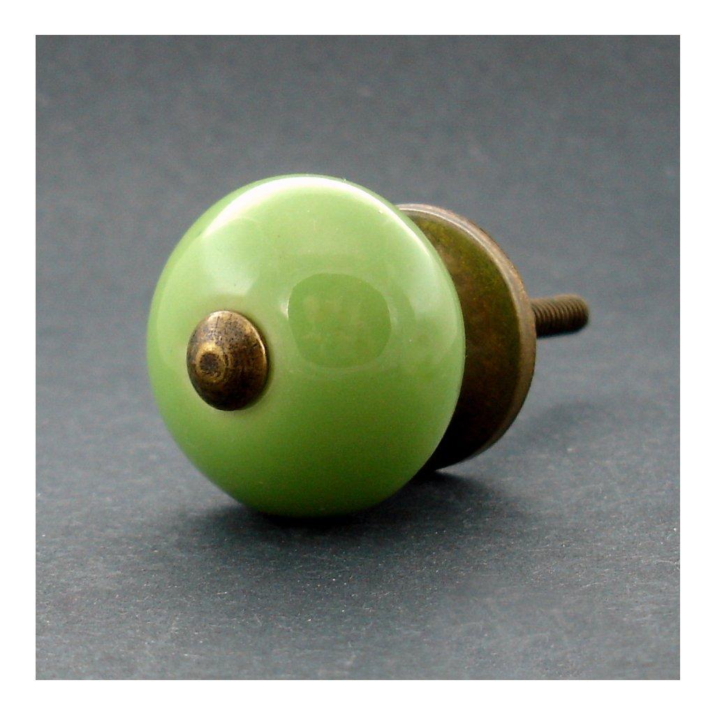 Keramická úchytka-Zelená-MALÁ