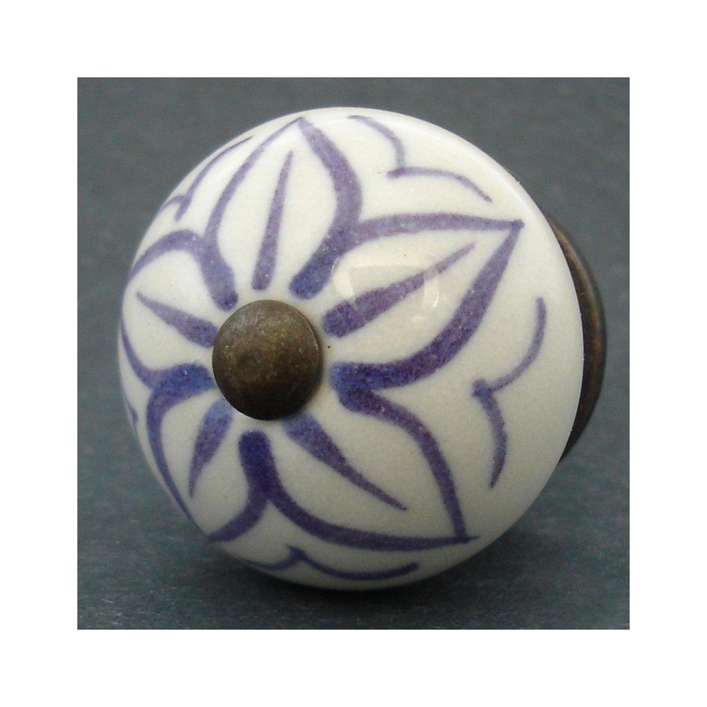 Keramická úchytka- Čemeřice fialová