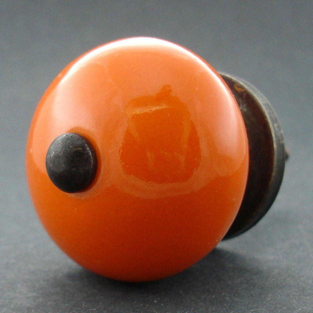 Keramická úchytka -Oranžová