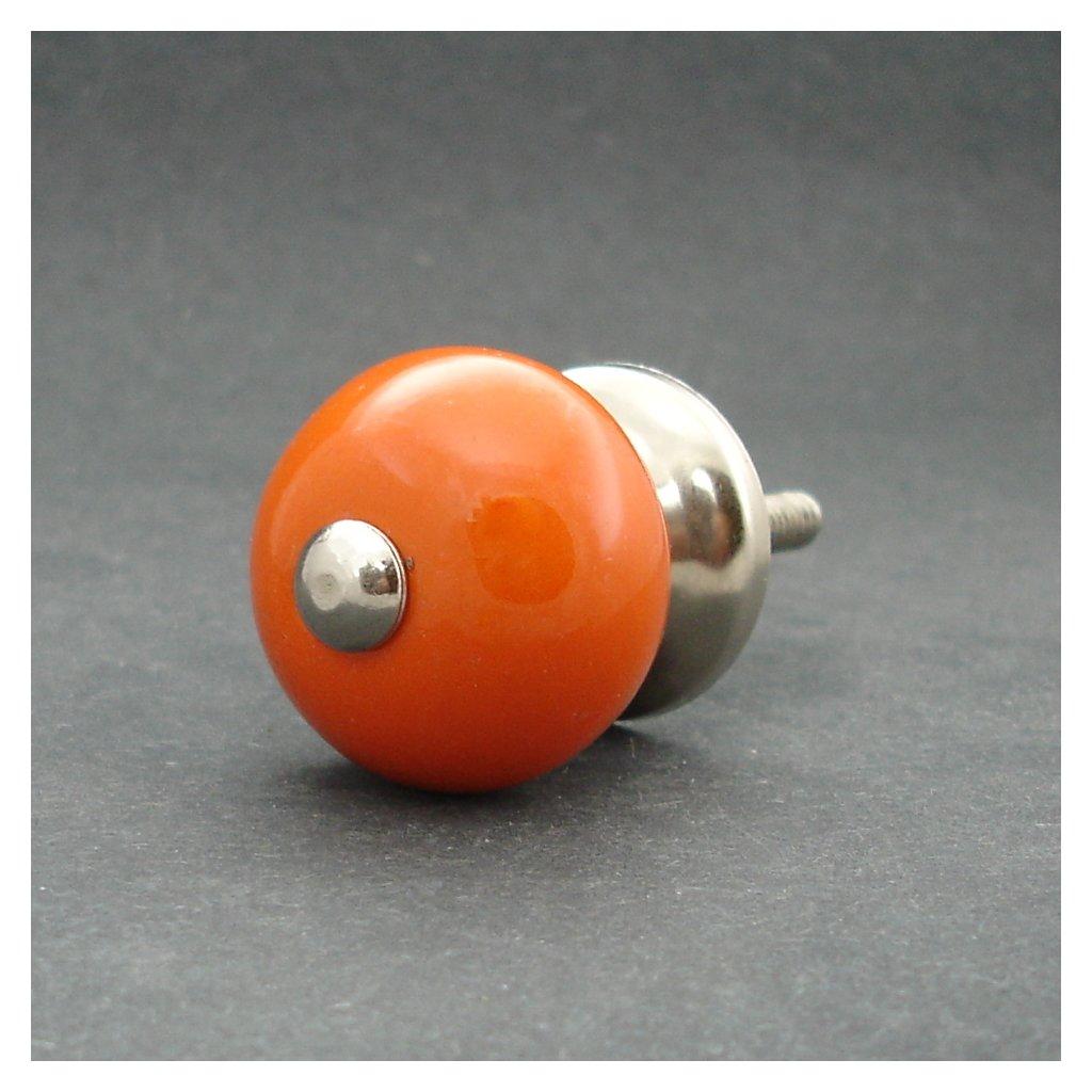 Keramická úchytka-Oranžová-MALÁ