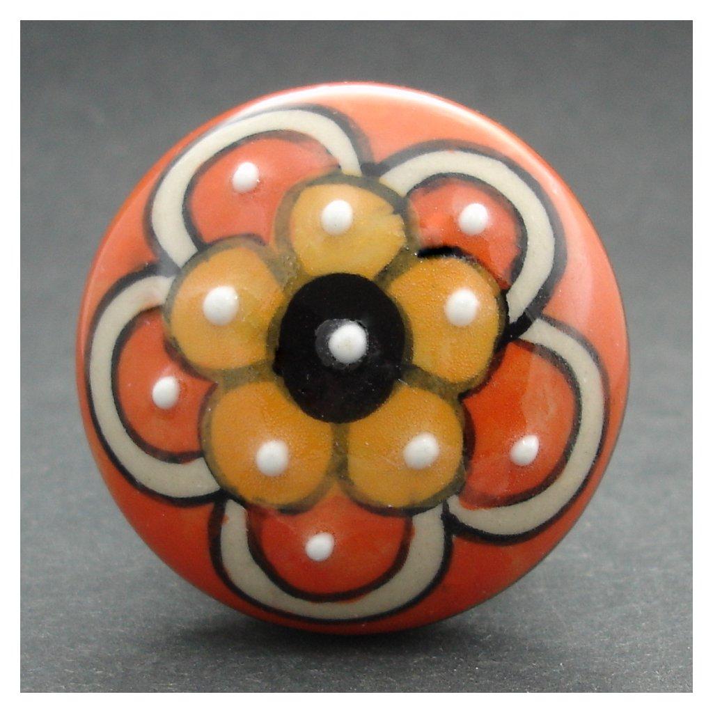 Maxiúchytka-Oranžová s kytičkou