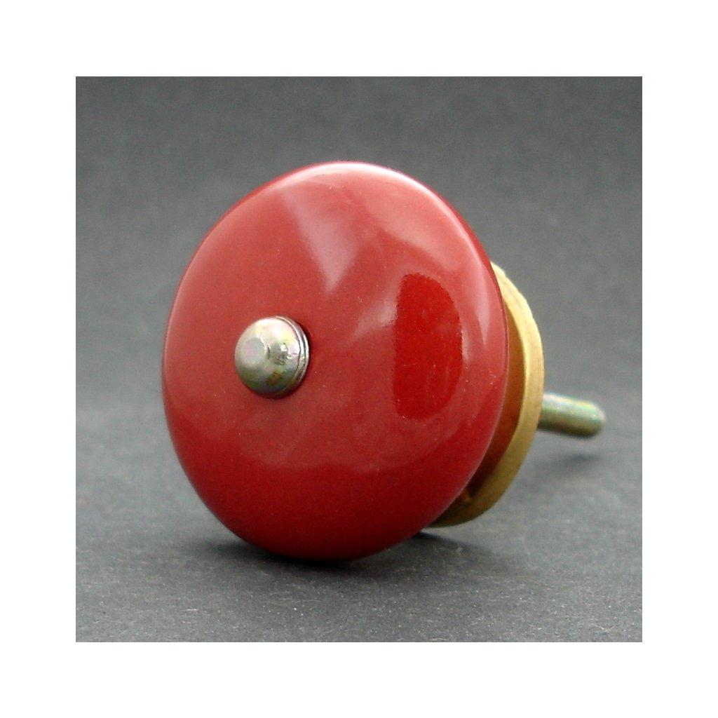 Keramická úchytka-Červená lentilka