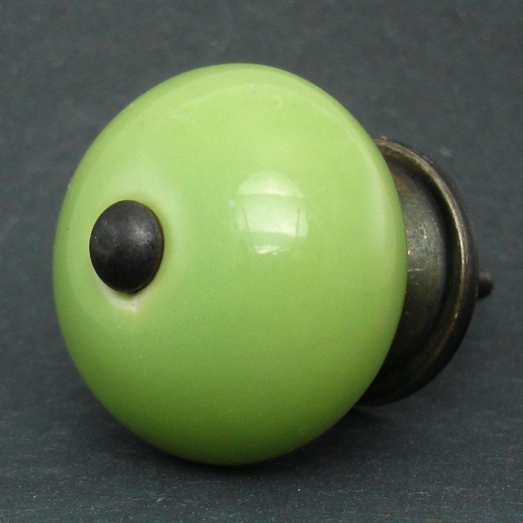 Keramická úchytka -Zelená
