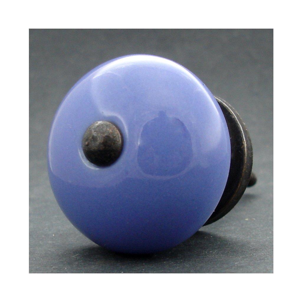 Keramická úchytka-Modrá pastel