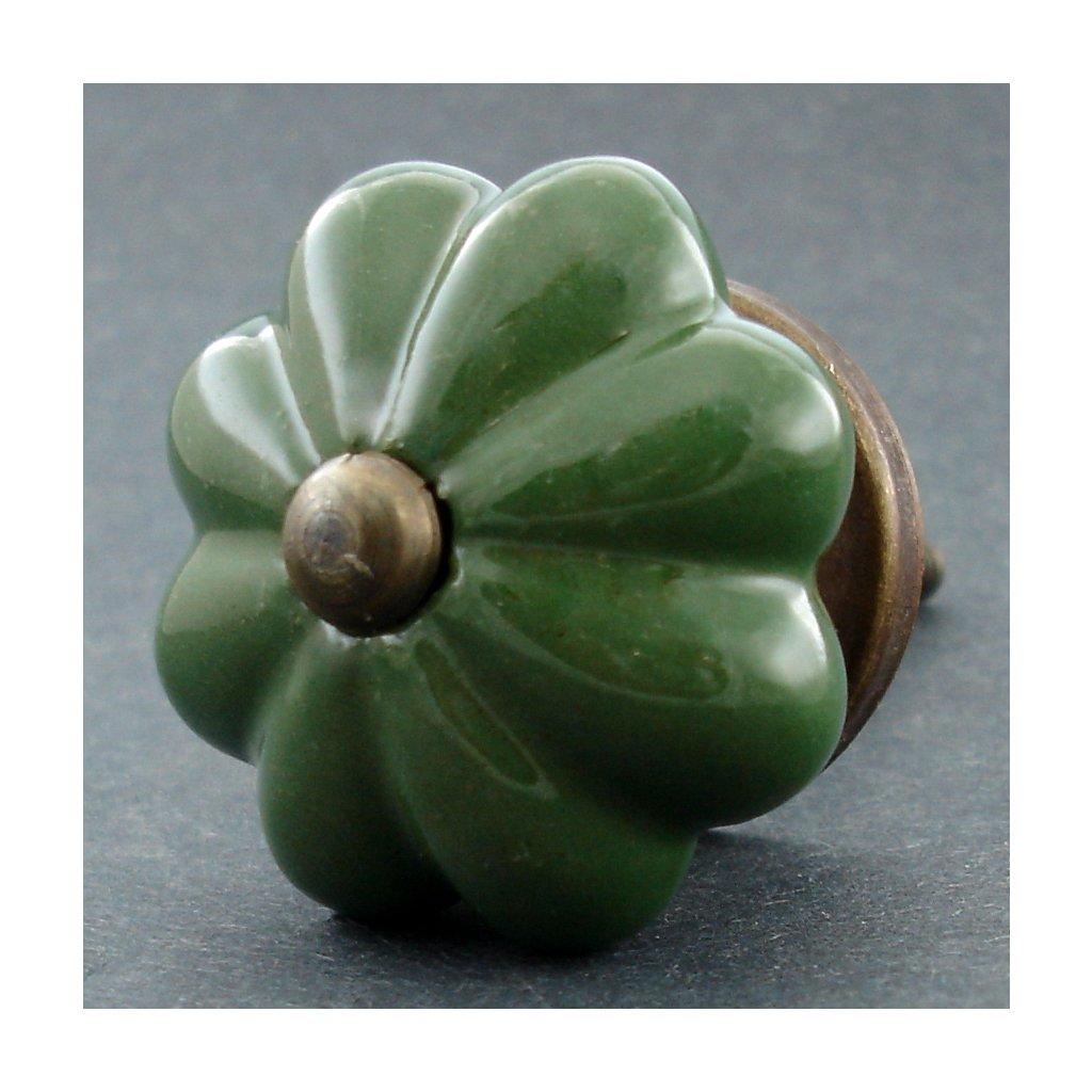 Keramická úchytka-Lesní květ