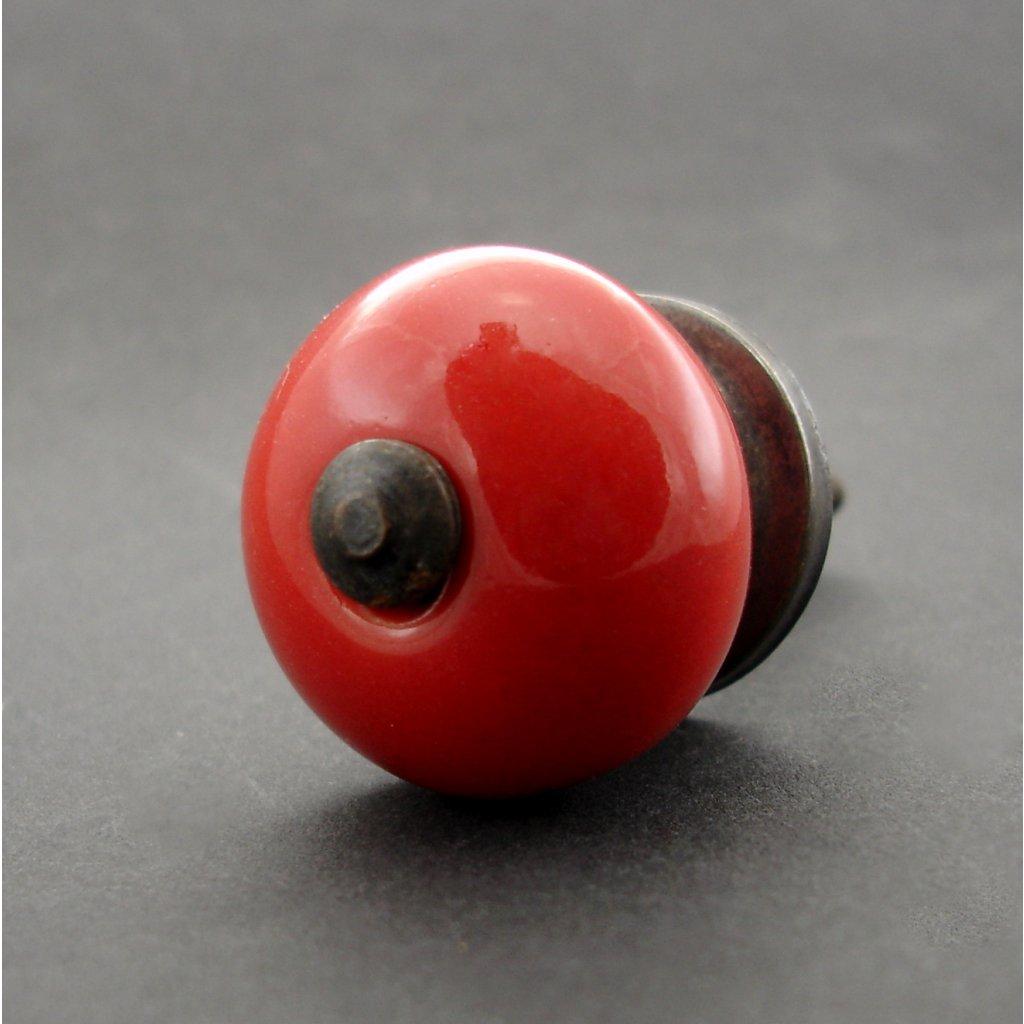 Keramická úchytka-Červená-MALÁ