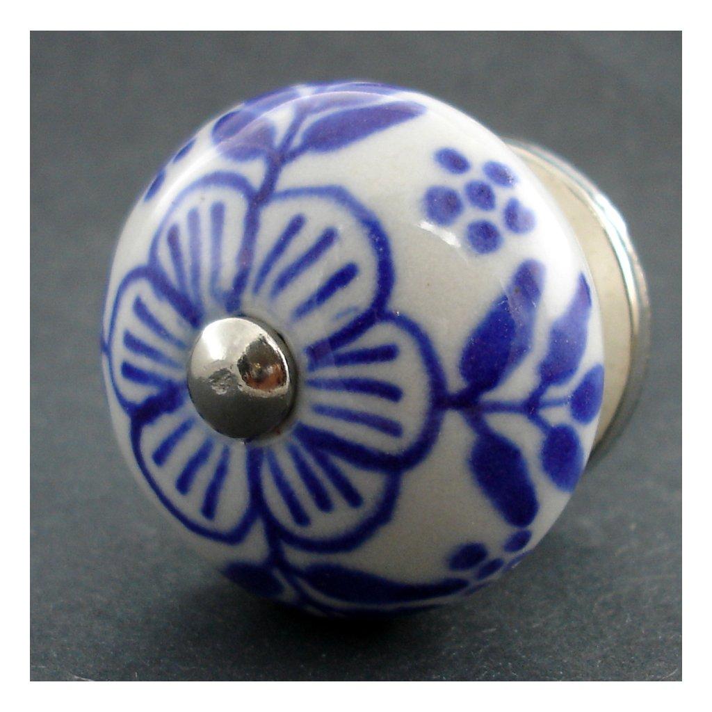 Keramická úchytka-Kakost modrý