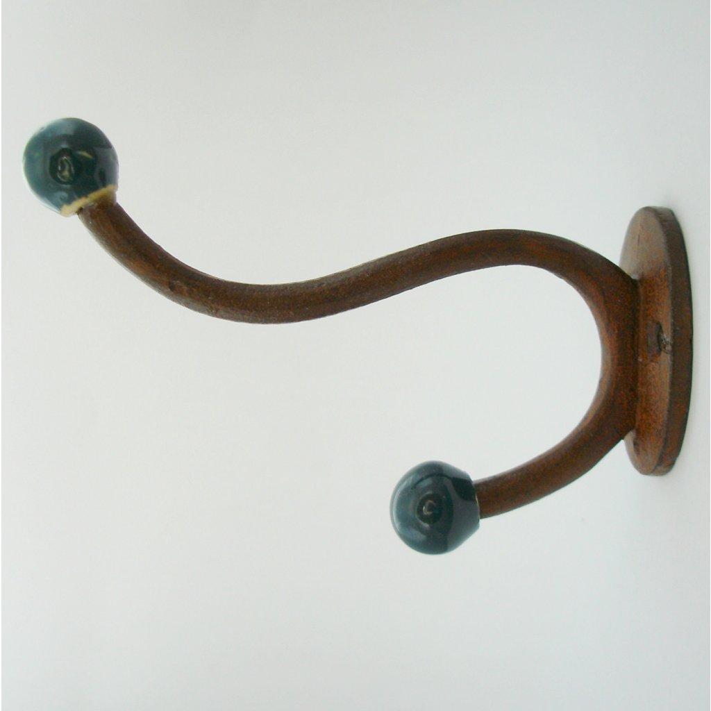 Věšák s keramickými kuličkami-Petrolej