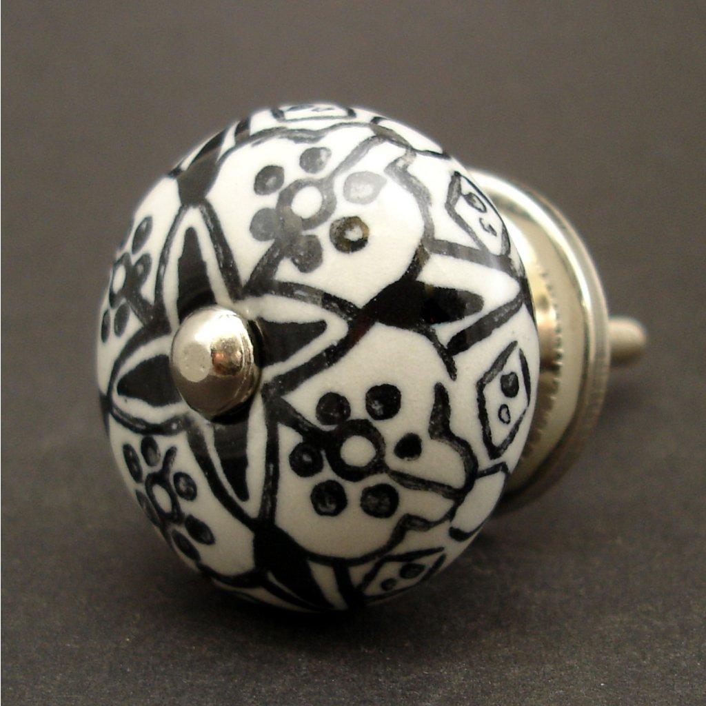 Keramická úchytka -Orient-černá