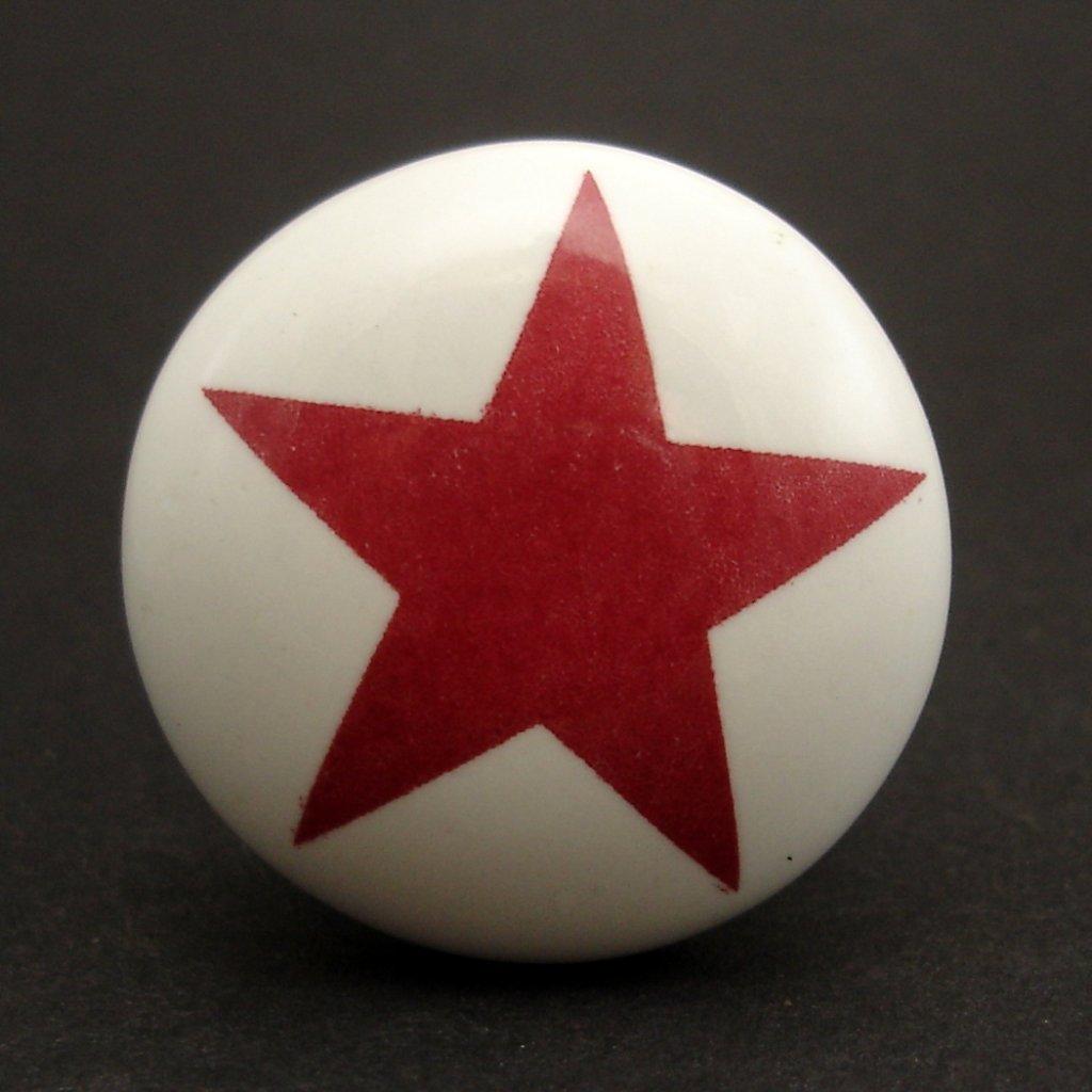 Keramická úchytka-Hvězda tmavá-POTISK