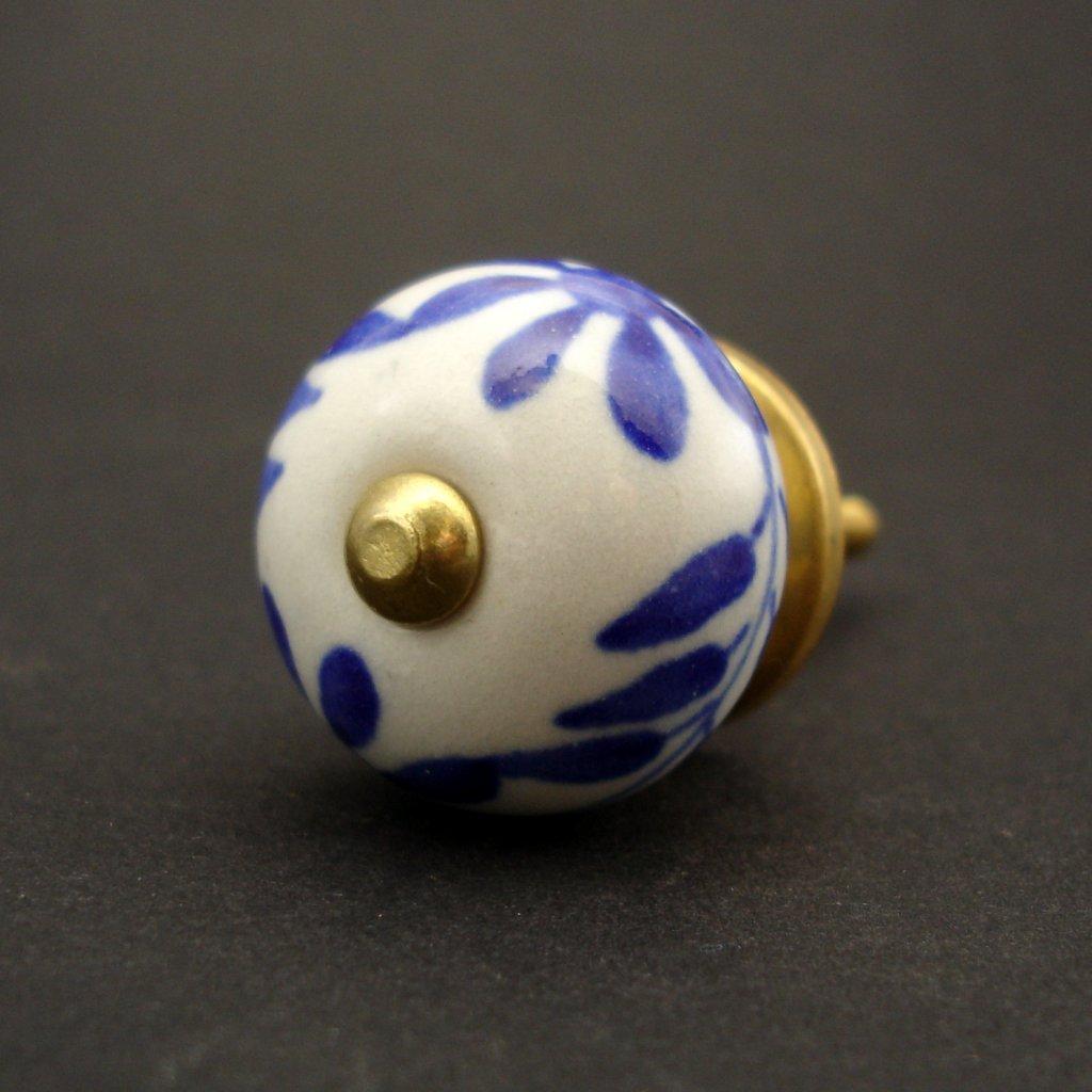Keramická úchytka- Čekanka modrá MALÁ