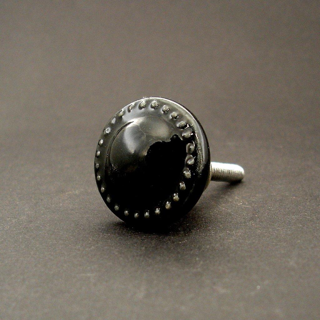 Keramický úchyt-Černý maličký