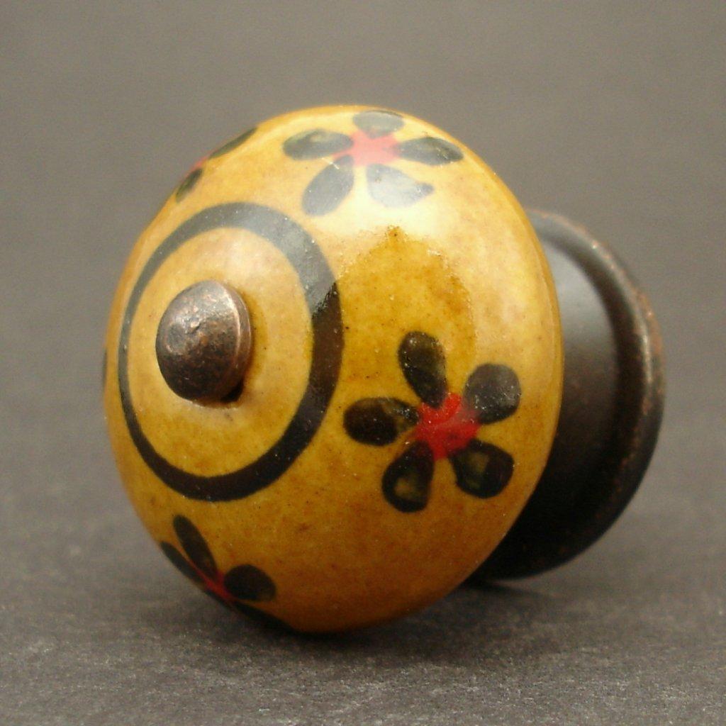 Keramická úchytka-Pomněnka v okrové