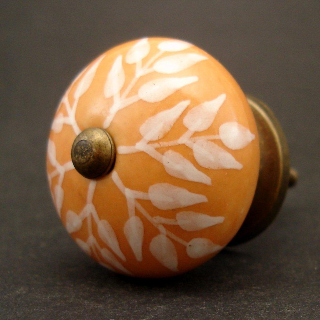 Keramická úchytka-Oranžové větévky