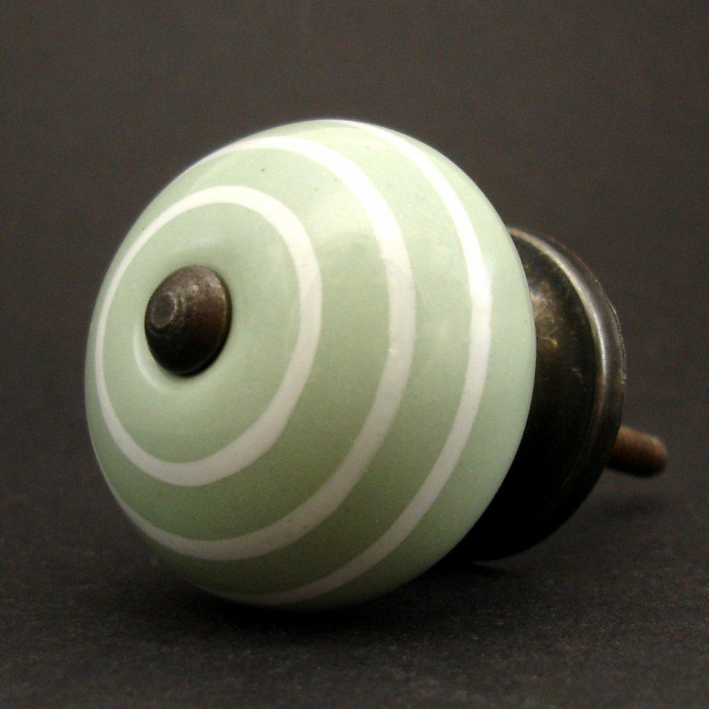 Keramická úchytka-Šalvějová s proužky