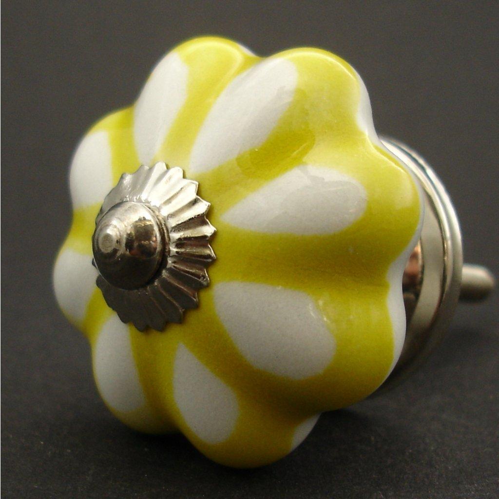 Keramická úchytka-Žlutý lem