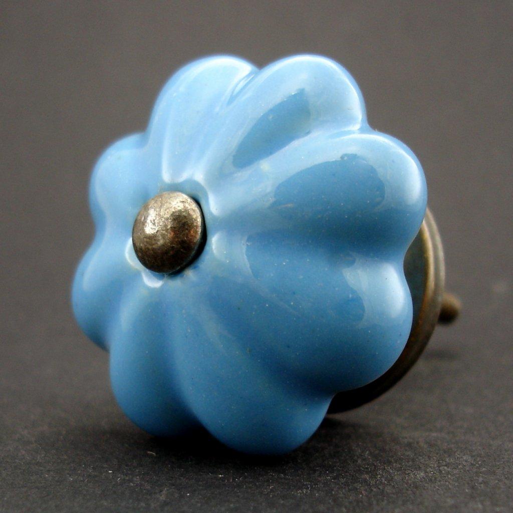 Keramická úchytka-mořská modrá
