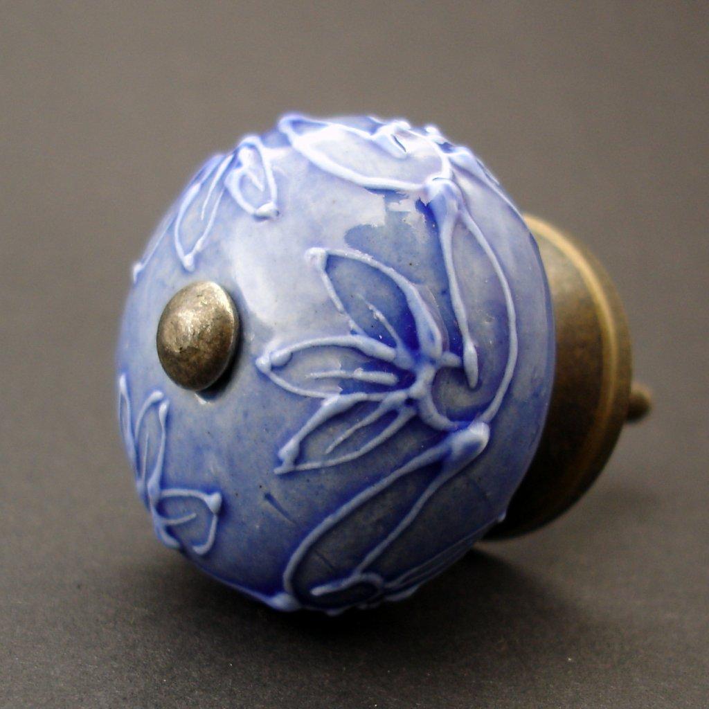 Keramická úchytka-Verona-modrá