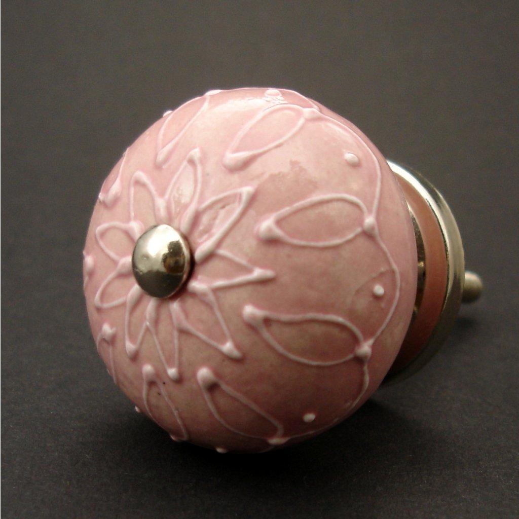 Keramická úchytka-Verona-růžová