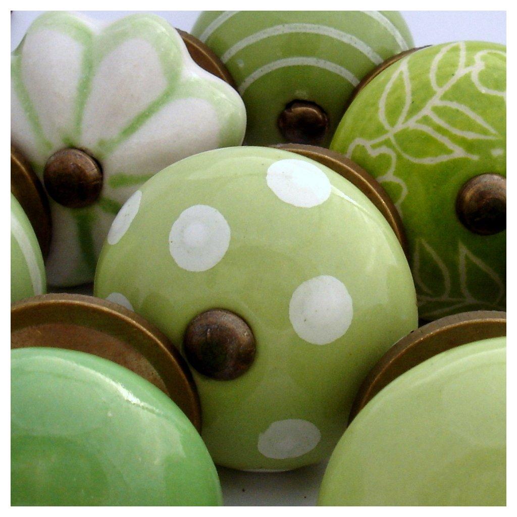 Výhodná sada 10 ks úchytek-Zelená a zelená
