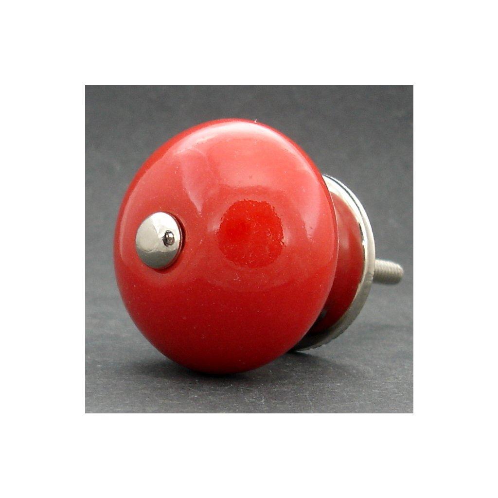 Keramická úchytka -Červená