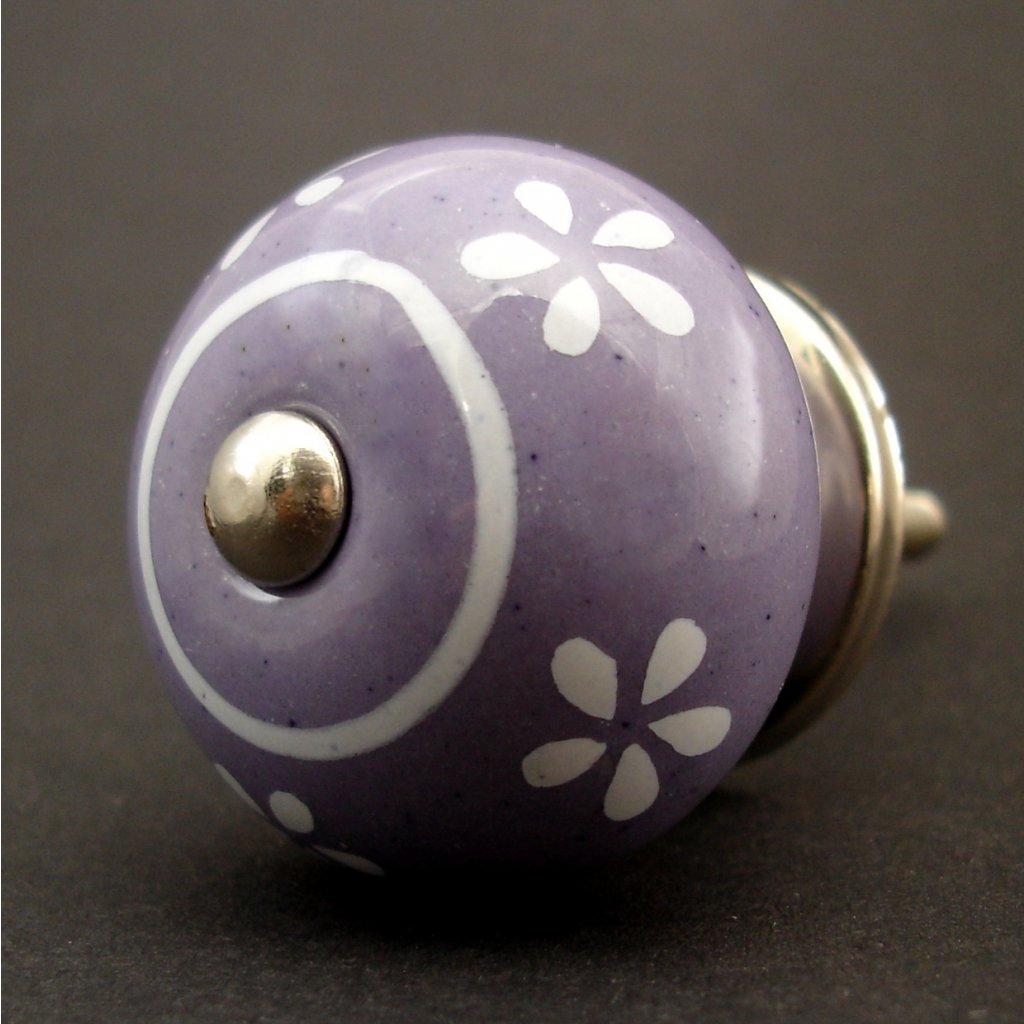 Keramická úchytka -Pomněnka fialová