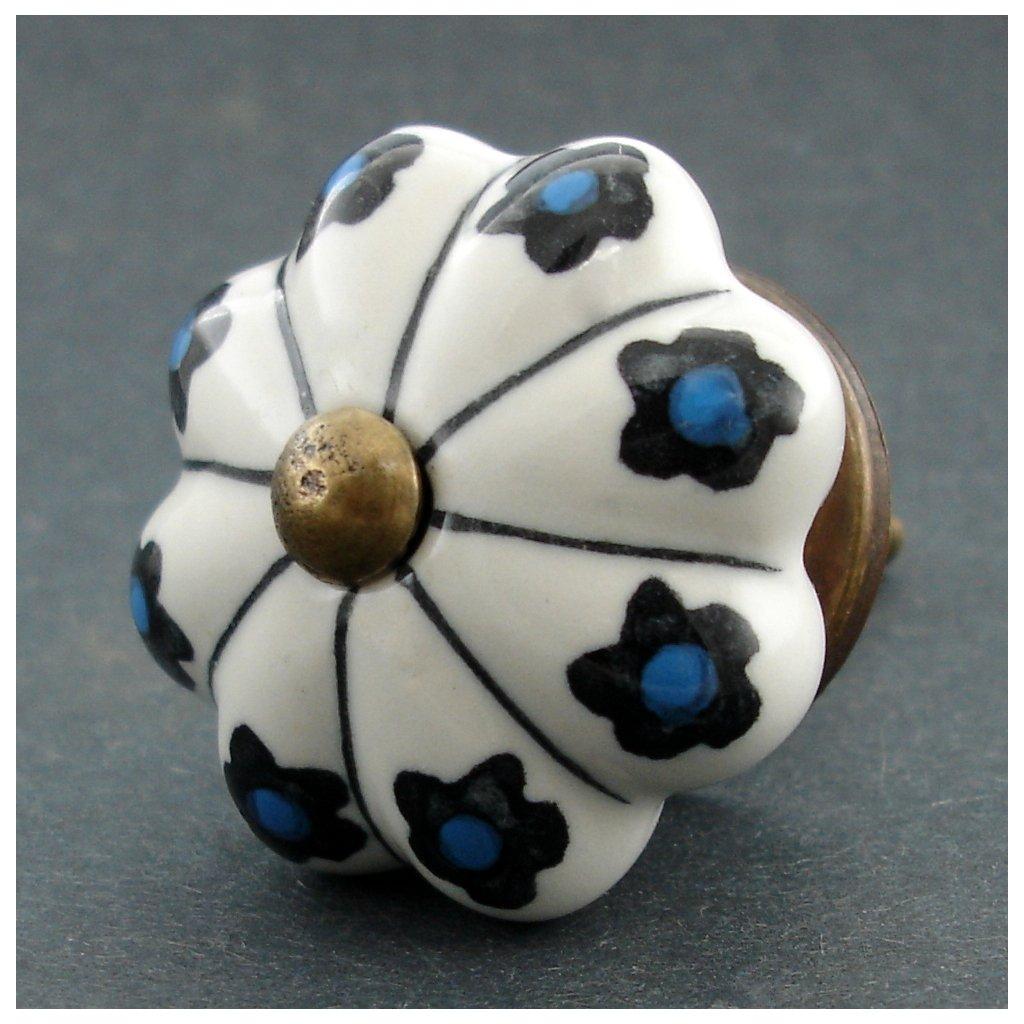 Keramická úchytka- Pomněnky a proužky