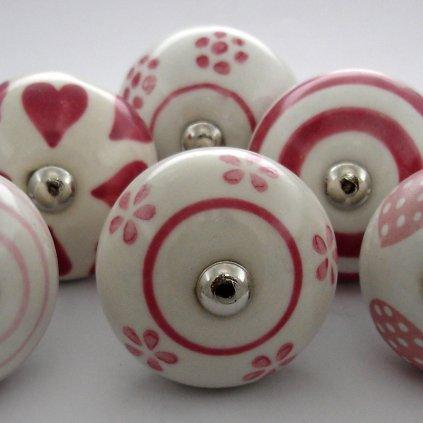 Výhodná sada 6ks-Bílá a růžová