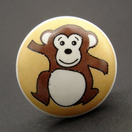 Keramická úchytka-Opičák-POTISK