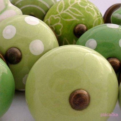 Výhodná sada 12 ks úchytek-Bílá a zelená