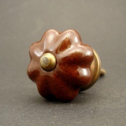 Keramická úchytka-Čokoládová-SMALL