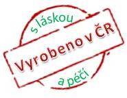 S láskou a péčí vyrobeno v ČR