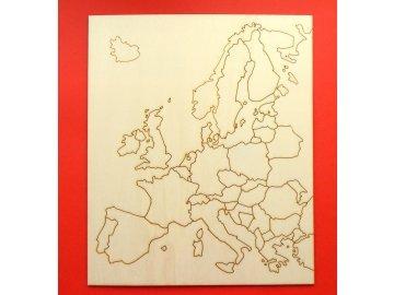 Slepá mapa Evropy II.jakost
