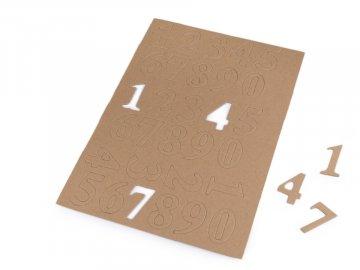 Číslice z kartonu