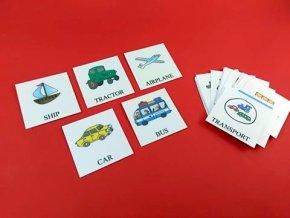 Anglické naučné karty DOPRAVA