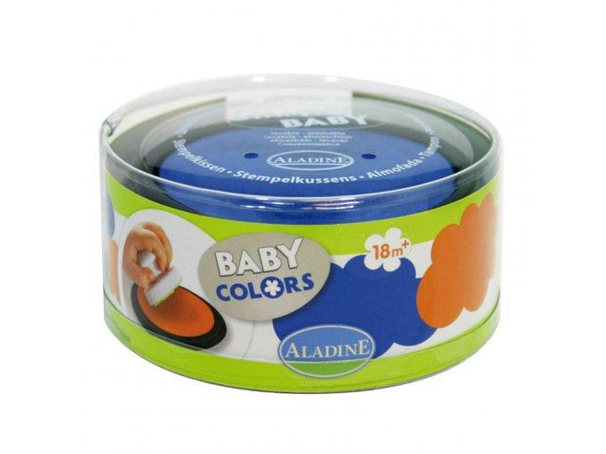 StampoBaby, oranžová a modrá poduška