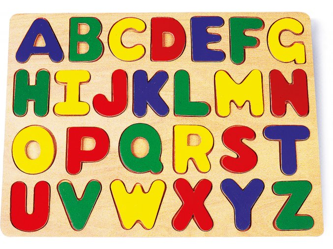 Vkládací puzzle abeceda