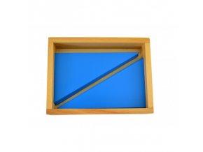 krabika s modrymi trojuhelniky
