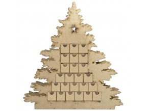 adventni kalendar dreveny vanocni stromecek