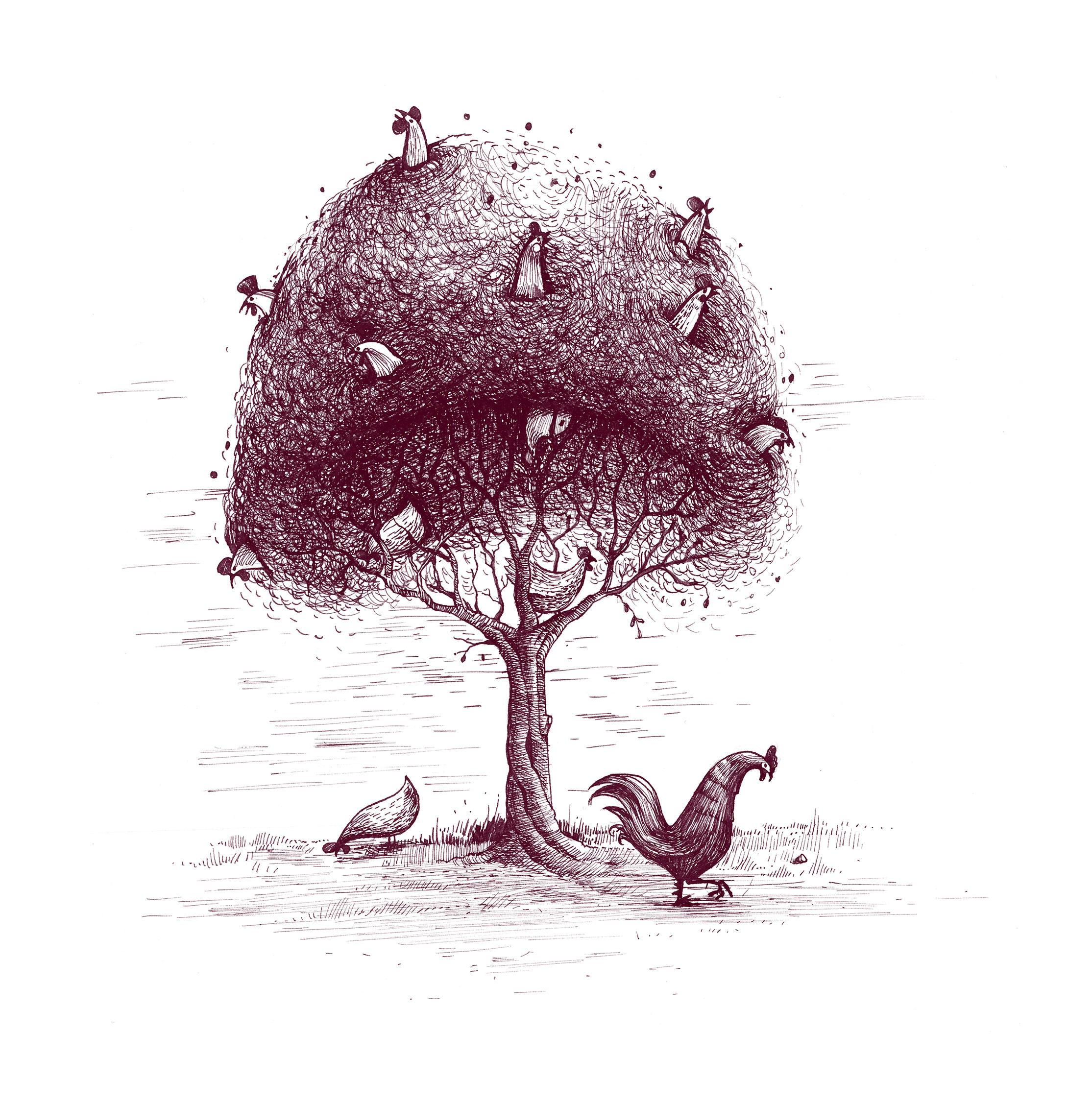 slepice_strom